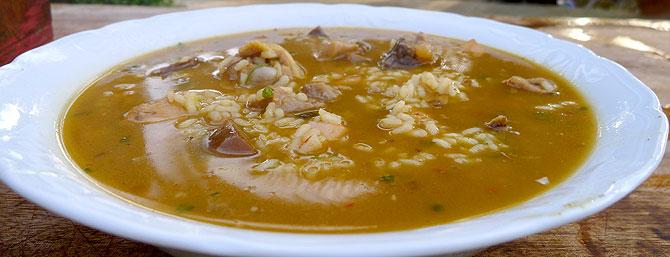 Arroz de matanzas, plato típico de la cocina de Ibiza (Foto: Xescu Prats)